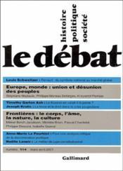 Revue Le Débat N.114 - Couverture - Format classique