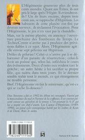 La Chute D Hyperion T.1 ; Les Cantos D'Hyperion - 4ème de couverture - Format classique