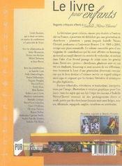 Le livre pour enfants ; regards critiques offerts à isabelle nières-chevrel - 4ème de couverture - Format classique