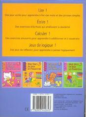 Bloc de jeux et exercices ; 6-7 ans : apprendre à lire et calculer - 4ème de couverture - Format classique