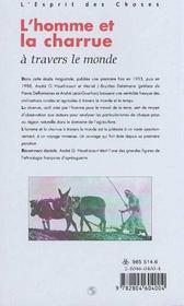 L'Homme Et La Charrue A Travers Le Monde - 4ème de couverture - Format classique