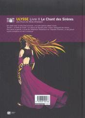 Ulysse t2 - 4ème de couverture - Format classique