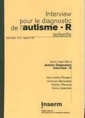 Interview Pour Le Diagnostic De L'Autisme-R (Recherche) (3. Ed.1991) (Adi-R) - Couverture - Format classique