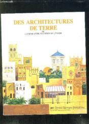 Des architectures de terre - Couverture - Format classique