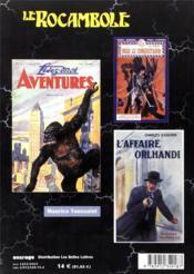 Revue Rocambole N.18 ; Aspects Du Roman D'Aventures (Ii) - 4ème de couverture - Format classique
