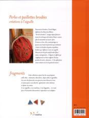 Perles et paillettes brodées ; créations à l'aiguille - 4ème de couverture - Format classique