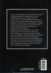 Le petit livre de Chanel - 4ème de couverture - Format classique