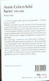 Sartre (1905-1980) - 4ème de couverture - Format classique