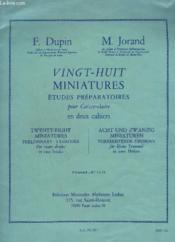 28 Miniatures - Etudes Preparatoires Pour Caisse Claire En 2 Cahiers - Cahier 1 : N°1 A 15. - Couverture - Format classique
