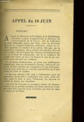 Appels Et Messages Aux Francais - Couverture - Format classique