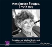 Antoinette Fouque : à voix nue - Couverture - Format classique