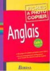 Anglais ; cycle 3 ; fichier photocopiable - Couverture - Format classique