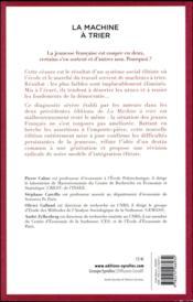 La machine à trier ; où comment la France divise sa jeunesse (3e édition) - 4ème de couverture - Format classique
