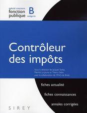 Concours de la fonction publique ; contrôleur des impôts ; catégorie B (2e édition) - Intérieur - Format classique