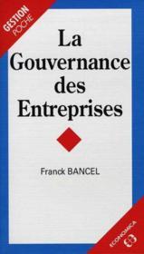 La gouvernance des entreprises - Couverture - Format classique