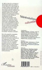 Telerevolutions Culturelles ; Chine, Europe Centrale, Russie - 4ème de couverture - Format classique