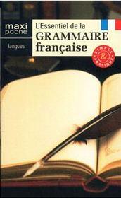 L'essentiel de la grammaire française - Couverture - Format classique