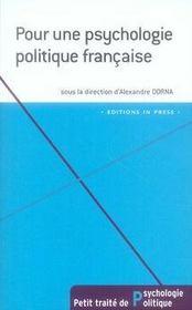 Pour une psychologie politique française - Intérieur - Format classique
