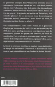 Lettres a la princesse - 4ème de couverture - Format classique