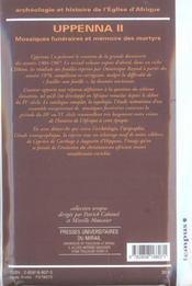 Archeologie et histoire de l'eglise . uppenna ii - 4ème de couverture - Format classique
