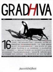 Cahier De Gradhiva N.16 ; Ethnologie Et Tauromachie - Couverture - Format classique