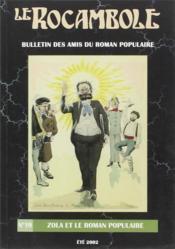 Revue Rocambole N.19 ; Zola Et Le Roman Populaire - Couverture - Format classique
