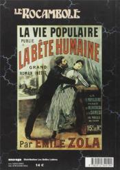 Revue Rocambole N.19 ; Zola Et Le Roman Populaire - 4ème de couverture - Format classique