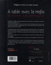 A TABLE AVEC LA MAFIA - 90 RECETTES Italo Américaines - 4ème de couverture - Format classique