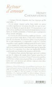 Retour d'amour - 4ème de couverture - Format classique