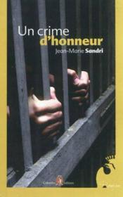 Un crime d'honneur - Couverture - Format classique