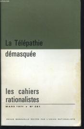 LES CAHIERS RATIONALISTES n° 281 : La télépathie démasquée - Couverture - Format classique