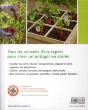 Créer un potager en carrés ; pour cultiver facilement des légumes toute l'année - 4ème de couverture - Format classique