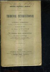 Le Tribunal International . - Couverture - Format classique
