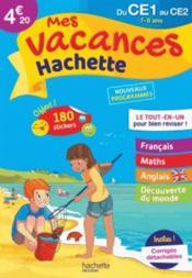 Mes vacances Hachette ; du CE1 au CE2 - Couverture - Format classique