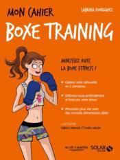 MON CAHIER ; boxe training - Couverture - Format classique