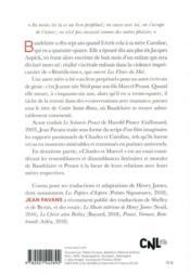 Le scénario Baudelaire - 4ème de couverture - Format classique