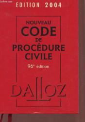 Nouveau Code De Procedure Civile 2004 - Couverture - Format classique