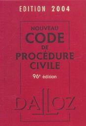 Nouveau Code De Procedure Civile 2004 - Intérieur - Format classique