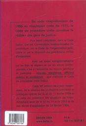 Nouveau Code De Procedure Civile 2004 - 4ème de couverture - Format classique