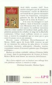 Fortune de France t.10 ; le lys et la pourpre - 4ème de couverture - Format classique