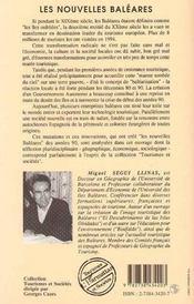 Les Nouvelles Baleares - 4ème de couverture - Format classique