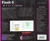 Adobe flash 5 avec actionscript magic - 4ème de couverture - Format classique