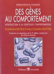 Genes Au Comportement (Des) - Intérieur - Format classique