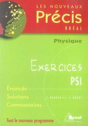 Nouveau précis exercices physique psi - Intérieur - Format classique