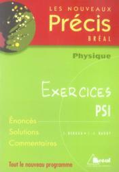 Nouveau précis exercices physique psi - Couverture - Format classique