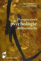 Perspectives de psychologie différentielle - Intérieur - Format classique