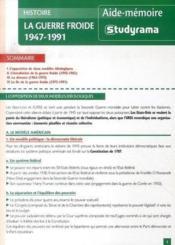 La guerre froide, 1947-1991 - Couverture - Format classique