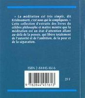 Meditations - 4ème de couverture - Format classique