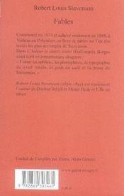 Fables - 4ème de couverture - Format classique
