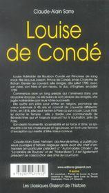 Louise De Conde - 4ème de couverture - Format classique